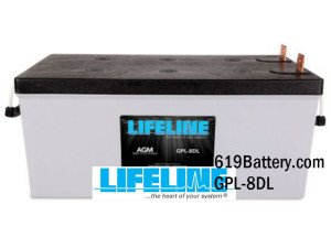 Lifeline AGM Marine Battery GPL8DL For Sale