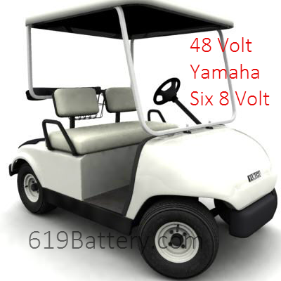 Yamaha Golf Cart Batteries  Volt