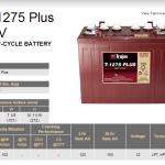 Trojan T-1275 Plus Battery