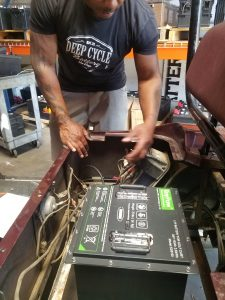 48v lithium golf cart battery install