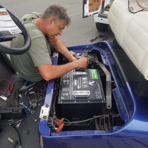golf cart lithium install